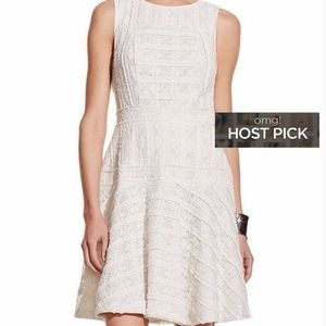 Vince Camuto Fit n Flare Ivory Lace Skater Dress M